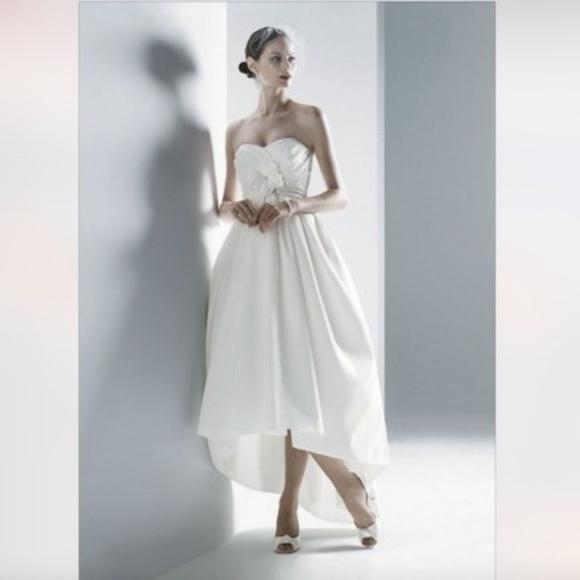 Oleg Cassini Dresses   Strapless High Low Wedding Dress   Poshmark